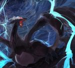 bad_id dark fang lugia monster no_humans not_shiny_pokemon open_mouth pokemon pokemon_(creature) pokemon_(game) pokemon_xd purple purple_skin red_eyes shadow_lugia shizuku_(asanuma) storm thunder