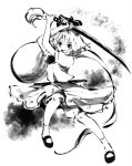 1girl katana konpaku_youmu konpaku_youmu_(ghost) makuwauri monochrome solo sword touhou traditional_media weapon