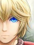 blonde_hair blue_eyes close-up eyes kiikii_(kitsukedokoro) male short_hair shulk solo xenoblade