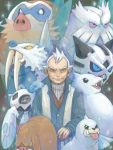 1boy dewgong froslass glalie gym_leader male mamoswine old_man piloswine pokemon pokemon_(creature) pokemon_(game) pokemon_hgss seel shining tegaki walrein winter_clothes yanagi_(pokemon)