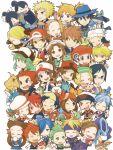 aron baseball_cap bel_(pokemon) bikini blue_(pokemon) blue_bikini bulbasaur cheren_(pokemon) chibi chikorita chimchar corn_(pokemon) cyndaquil denji_(pokemon) dent_(pokemon) dragonair dragonite dratini fuu_(pokemon) gen_(pokemon) gold_(pokemon) gym_leader haruka_(pokemon) hat hikari_(pokemon) jun_(pokemon) kasumi_(pokemon) kotone_(pokemon) kouki_(pokemon) lucario luxray matsuba_(pokemon) mikan_(pokemon) minaki_(pokemon) mudkip multiple_boys multiple_girls n_(pokemon) ookido_green oshawott panpour pansage pansear pikachu piplup pod_(pokemon) pokemon pokemon_(creature) pokemon_(game) pokemon_bw pokemon_dppt pokemon_frlg pokemon_hgss pokemon_rse ponytail ran_(pokemon) red_(pokemon) red_(pokemon)_(remake) riolu shirona_(pokemon) silver_(pokemon) smile snivy squirtle staryu suicune swimsuit tegaki tepig torchic totodile touko_(pokemon) touya_(pokemon) treecko tsumuki tsutsuji_(pokemon) tsuwabuki_daigo turtwig twintails victini wataru_(pokemon) yuuki_(pokemon)