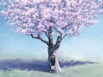 cherry_blossoms isou_nagi original scenic seifuku tree