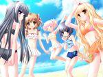 aizawa_tobari arisugawa_yuuhi beach bikini black_hair blonde_hair blue_eyes brown_eyes fair_child green_eyes hazumi_kotori hinamori_kokoro kagami_sakuya loli nimura_yuushi summer swimsuit swimwear violet_eyes