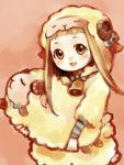 animal_costume animal_ears bow brown_eyes brown_hair ichihara_nina idolmaster idolmaster_cinderella_girls sheep sheep_costume sheep_ears
