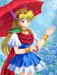 1girl akazukin_chacha bracelet chacha flower highres hydrangea jewelry magical_princess mimimix solo umbrella