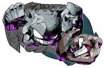 clenched_teeth creature dated geodude graveler grin highres multiple_arms muscle pokemon pokemon_(creature) pose rock sido_(slipknot) signature smile transparent_background