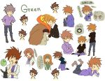 1boy 1girl brown_hair bukiko dual_persona hug male multiple_persona ookido_green ookido_green_(classic) ookido_green_(frlg) ookido_green_(hgss) ookido_nanami ookido_shigeru pidgeot pokemon pokemon_(anime) pokemon_(creature) pokemon_(game) pokemon_frlg pokemon_gsc pokemon_hgss pokemon_rgby pokemon_special umbreon