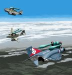 cloud clouds f-4_phantom_ii fighter_jet flying hatsune_miku jet me_262 military omega_symbol rxjx twintails vocaloid