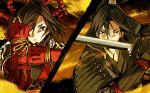 g_yuusuke game_cg kajiri_kamui_kagura kujou_shiori mibu_soujirou sword weapon