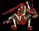 black g_yuusuke game_cg kajiri_kamui_kagura male redhead sakagami_habaki sword weapon