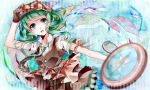 blue_eyes compass gloves goggles goggles_on_hat green_hair gumi hat necktie nou solo vocaloid