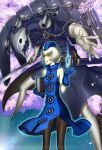 bare_shoulders book brown_legwear chain chains elizabeth_(persona) floating_card gloves hat highres kyodairobo pantyhose persona persona_3 persona_4:_the_ultimate_in_mayonaka_arena short_hair thanatos yellow_eyes