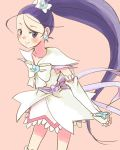 azuma_yukihiko blush cure_egret futari_wa_precure_splash_star long_hair magical_girl mishou_mai precure simple_background smile solo