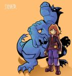 brown_hair child feraligatr male persona_(artist) poke_ball pokemon pokemon_(game) pokemon_gsc silver_(pokemon) simple_background solo