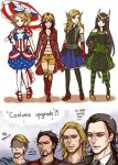 4girls armor armored_dress artist_request avengers boots captain_america elbow_gloves english genderswap gloves hands high_heels holding_hands iron_man jpeg_artifacts knee_boots loki_(marvel) long_hair marvel mary_janes multiple_boys multiple_girls pantyhose shoes short_hair skirt steve_rogers striped striped_legwear striped_stockings thighhighs thor_(marvel) tony_stark twintails very_long_hair
