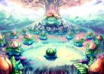 commentary creature epic fangs grass highres ivysaur nature no_humans outdoors petals pokemn pokemon pokemon_(anime) sa-dui tree venusaur