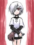 kugelschreiber red_eyes short_hair smile solo white_hair
