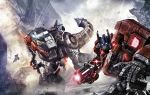 80s autobot battle cybertron epic fall_of_cybertron grimlock mecha oldschool optimus_prime realistic robot science_fiction transformers transformers:_fall_of_cybertron