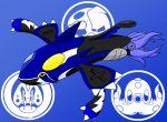 blue_background creature eelektross fusion kamen_rider kamen_rider_ooo_(series) kyogre no_humans octillery parody pokemon redol shauta_(ooo_combo) simple_background super_mushroom