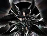 armor black_hair full_armor hades_(saint_seiya) male saint_seiya solo sword weapon wings