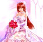 blue_eyes flower huge_breasts redhead s_zenith_lee tagme veil wedding_dress