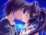 clear game_cg kiss long_hair mitha okamoto_nonoka twintails