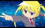 1920x1200 1girl blonde_hair blue_eyes hair_ribbon kill_me_baby necktie ribbon sonya_(kill_me_baby) vector vector_trace wallpaper