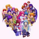 angel_beats! axe carrying computer everyone fujimaki_(angel_beats!) gamaruta highres hinata_(angel_beats!) hisako_(angel_beats!) irie_(angel_beats!) iwasawa laptop matsushita naoi_ayato noda_(angel_beats!) ooyama_(angel_beats!) otonashi_(angel_beats!) princess_carry school_uniform sekine serafuku shiina_(angel_beats!) sleeves_rolled_up tachibana_kanade takamatsu takeyama_(angel_beats!) tenshi_(angel_beats!) thighhighs tk_(angel_beats!) weapon wings yui_(angel_beats!) yuri_(angel_beats!) yusa_(angel_beats!)