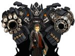 70s aiming_at_viewer cigarette clint_eastwood crossover dirty_harry epic gun harry_callahan higechos ironhide mecha oldschool pistol revolver robot science_fiction transformers weapon