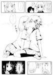 aislinn_wishart artist_request chinchilla comic kakura_kurumi kiss kosegawa_shiromi monochrome multiple_girls saki short_hair translation_request yuri