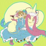blush brown_hair child clothed_pokemon delcatty dress lolita_fashion milotic nayu703 odamaki_sapphire pokemon pokemon_special sitting