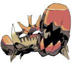 kingler lowres no_humans pokemon pokemon_(creature) sido_(slipknot) simple_background sketch solo white_background