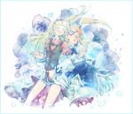 blonde_hair braid closed_eyes dress eyes_closed fenimore flower hairband kou_(01310808) long_hair multiple_girls shirley_fennes smile tales_of_(series) tales_of_legendia twintails
