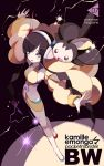 blue_eyes emolga fur_coat headphones kamitsure_(pokemon) legs maruino midriff pokemon pokemon_(game) pokemon_bw2