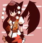 black_hair fan hat houroku scarf shameimaru_aya tokin_hat touhou wings