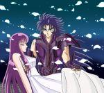 athena gemini_saga long_hair purple_hair saint_seiya saori_kido tagme