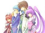 2girls asbel_lhant blue_eyes blue_hair brown_hair cheria_barnes glasses hubert_ozwell multiple_boys multiple_girls pink_hair purple_eyes purple_hair sophie_(tales_of_graces) tales_of_(series) tales_of_graces twintails two_side_up violet_eyes yu_ko_(king-of-paseri)