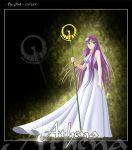athena kidou_saori long_hair purple_hair saint_seiya saori_kido tagme trident
