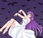 athena crow kidou_saori legs long_hair purple_hair saint_seiya saori_kido tagme