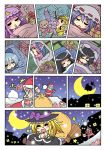 6+girls broom broom_riding christmas christmas_special_03 cirno colonel_aki comic flandre_scarlet foothold_trap gift houraisan_kaguya inaba_tewi kirisame_marisa konpaku_youki konpaku_youki_(ghost) marisa_stole_the_precious_thing multiple_girls patchouli_knowledge remilia_scarlet rx-78-2 sack saigyouji_yuyuko santa_costume silent_comic stuffed_animal stuffed_toy teddy_bear theft touhou
