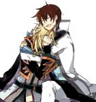 asbel_lhant blonde_hair brown_hair male multiple_boys richard_(tales_of_graces) starshadowmagician tales_of_(series) tales_of_graces tears white_background yellow_eyes