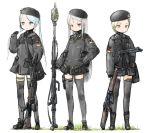 beret child coh cross german german_flag gun hat iron_cross loli military multiple_girls operations_mars rifle thigh-highs thighhighs twintails uniform war weapon zettai_ryouiki