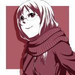k-on! long_hair monochrome scarf tyotyotyori winter_clothes yamanaka_sawako