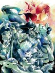 2boys arcanine baseball_cap butterfree cubone dragonair eevee hari_(atheos) hat haunter ivysaur lapras lickitung multiple_boys nidoking ookido_green pidgeot pokemon pokemon_(creature) pokemon_(game) pokemon_frlg raichu rapidash red_(pokemon) red_(pokemon)_(remake) slowpoke spearow tegaki