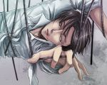1boy black_hair cable hnti-yuax levi_(shingeki_no_kyojin) shingeki_no_kyojin solo tied_up