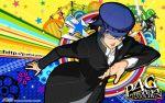 blue_hair glasses hat persona persona_4 shirogane_naoto soejima_shigenori solo watermark