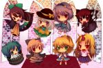 ahoge animal_ears arm_cannon bird_wings blonde_hair blue_eyes blush bow braid brown_hair bucket cape cat_ears cat_tail closed_eyes eyes_closed fang green_eyes green_hair hair_bow hairband hat hat_bow heart horn hoshiguma_yuugi in_bucket in_container kaenbyou_rin kisume komeiji_koishi komeiji_satori kurodani_yamame long_hair long_sleeves mizuhashi_parsee multiple_girls multiple_tails open_mouth ponytail puffy_sleeves purple_hair red_eyes red_hair redhead reiuji_utsuho scarf short_hair short_sleeves silver_hair smile subterranean_animism swami tail third_eye touhou twin_braids very_long_hair weapon wide_sleeves wings