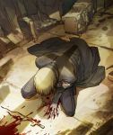 blood cross gloves heinkel_wolfe hellsing kneeling nankakureman trench_coat