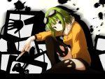 boxcutter fuyouchu goggles green_eyes green_hair gumi short_hair stockings vocaloid yuzuki_kei