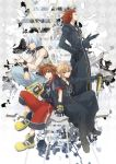 axel blonde_hair blue_eyes brown_hair cloak keyblade kingdom_hearts kingdom_hearts_3d_dream_drop_distance lea lea_(kingdom_hearts) male multiple_boys organization_xiii red_hair redhead riku roxas short_hair shorts silver_hair sora_(kingdom_hearts) xia_(ryugo)